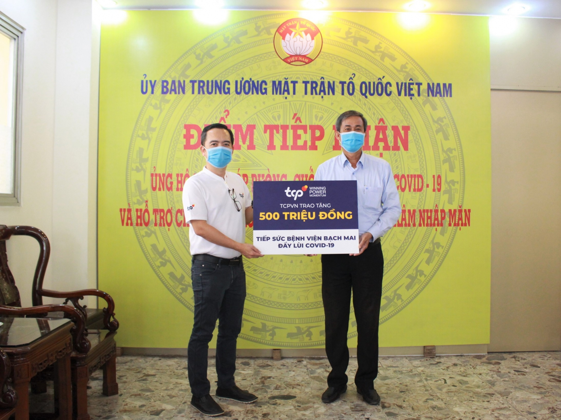 TCPVN donates $34,800 to Vietnam's campaign against COVID-19 pandemic