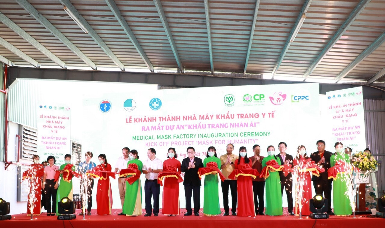 C.P. Vietnam inaugurates CPPC medical mask factory and Mask for Humanity project