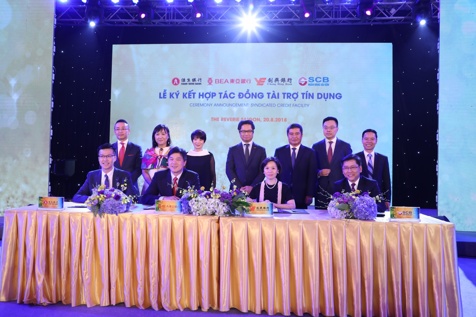 scb and hong kong banks sign syndicated credit financing agreement