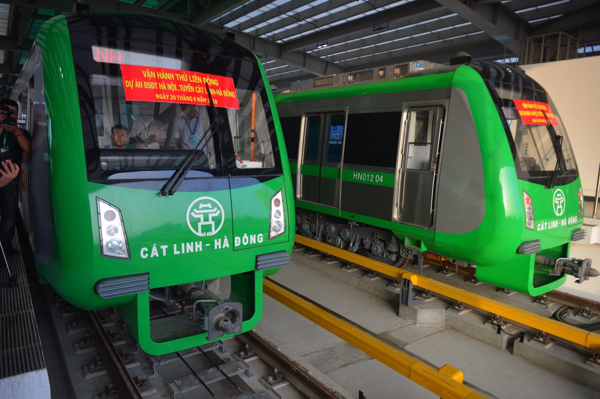Cat Linh-Hadong elevated urban railway first test run