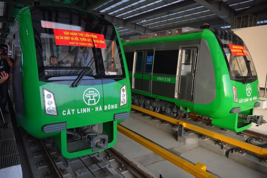 cat linh hadong elevated urban railway first test run
