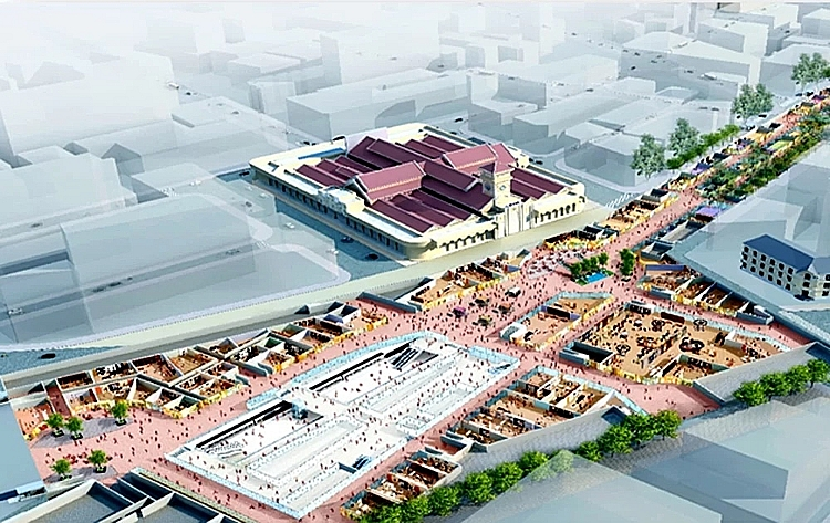 ben thanh underground trade center to be built in ho chi minh city