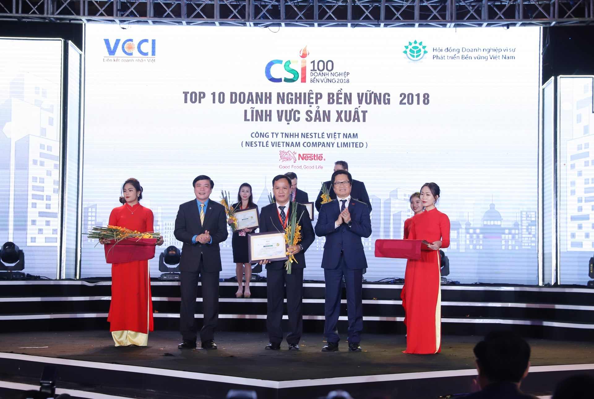 Nestlé Vietnam in top 10 sustainable companies for second year running