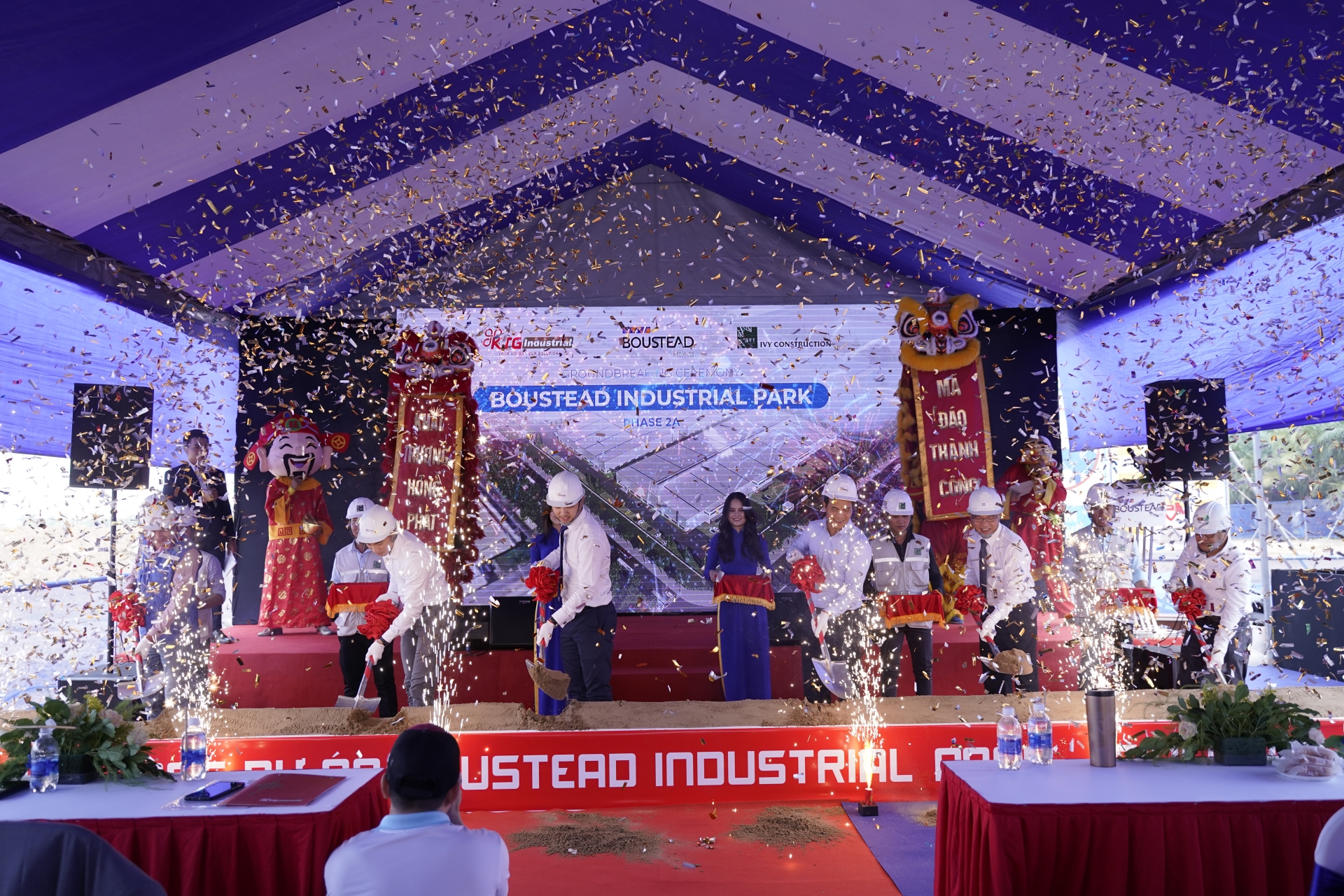 Groundbreaking ceremony for Boustead IP phase 2A managed by Boustead & KTG Industrial