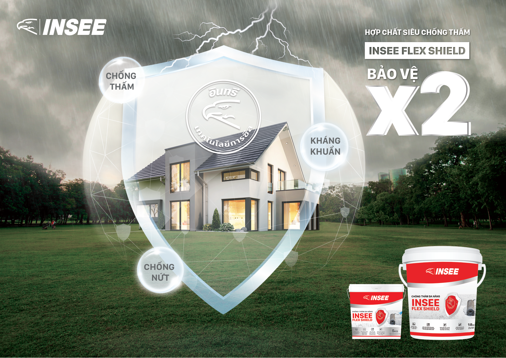 INSEE Flex Shield provides efficient waterproofing and prolongs construction lifespan