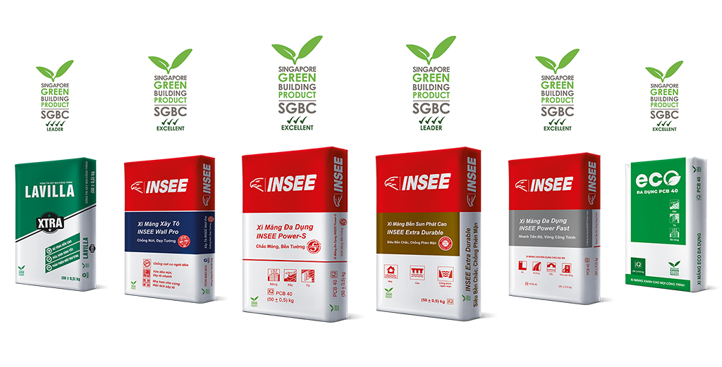 INSEE Vietnam is certified upgrading green label rank for cement products.