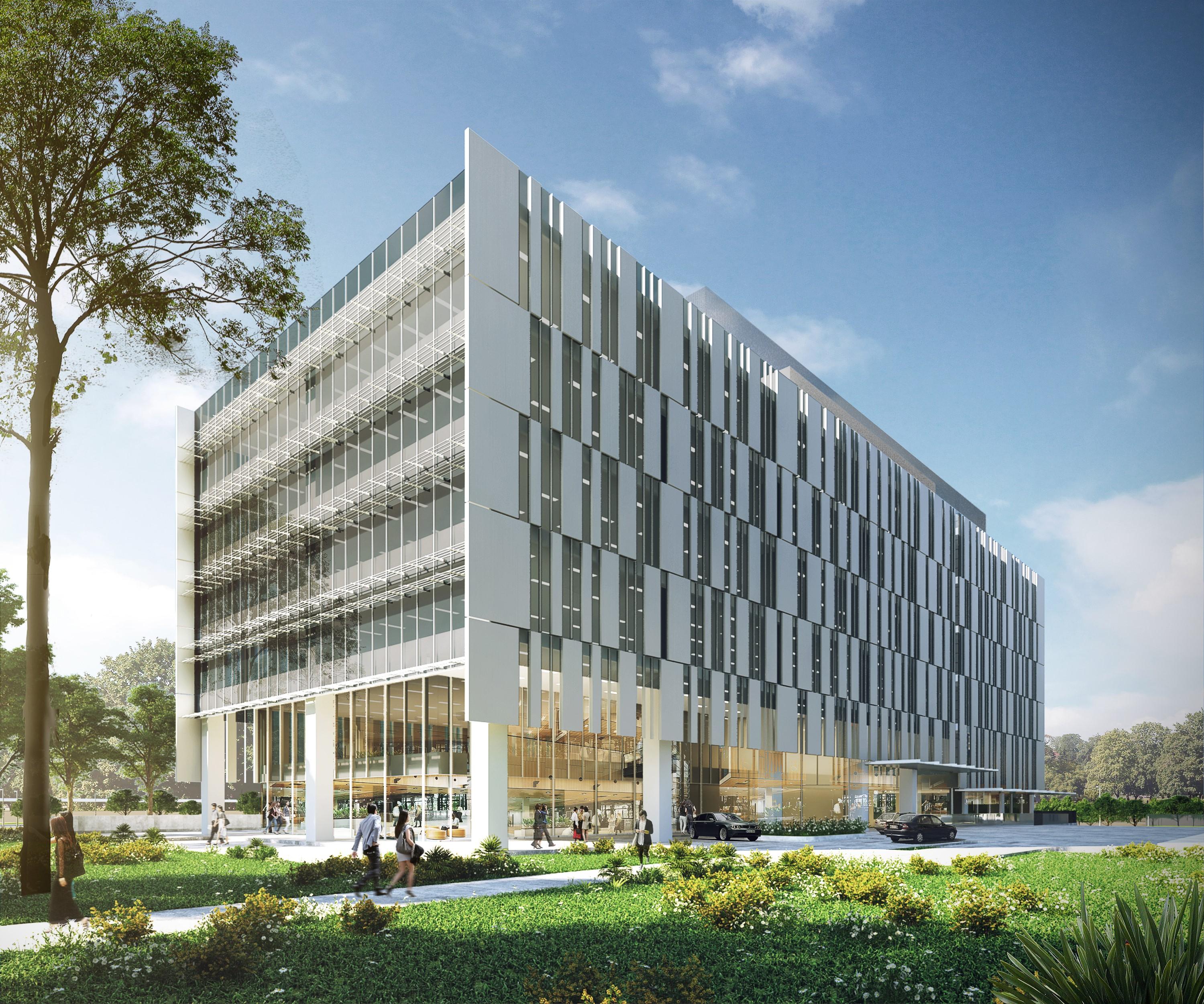 Office Tower 1 at OneHub Saigon starts construction