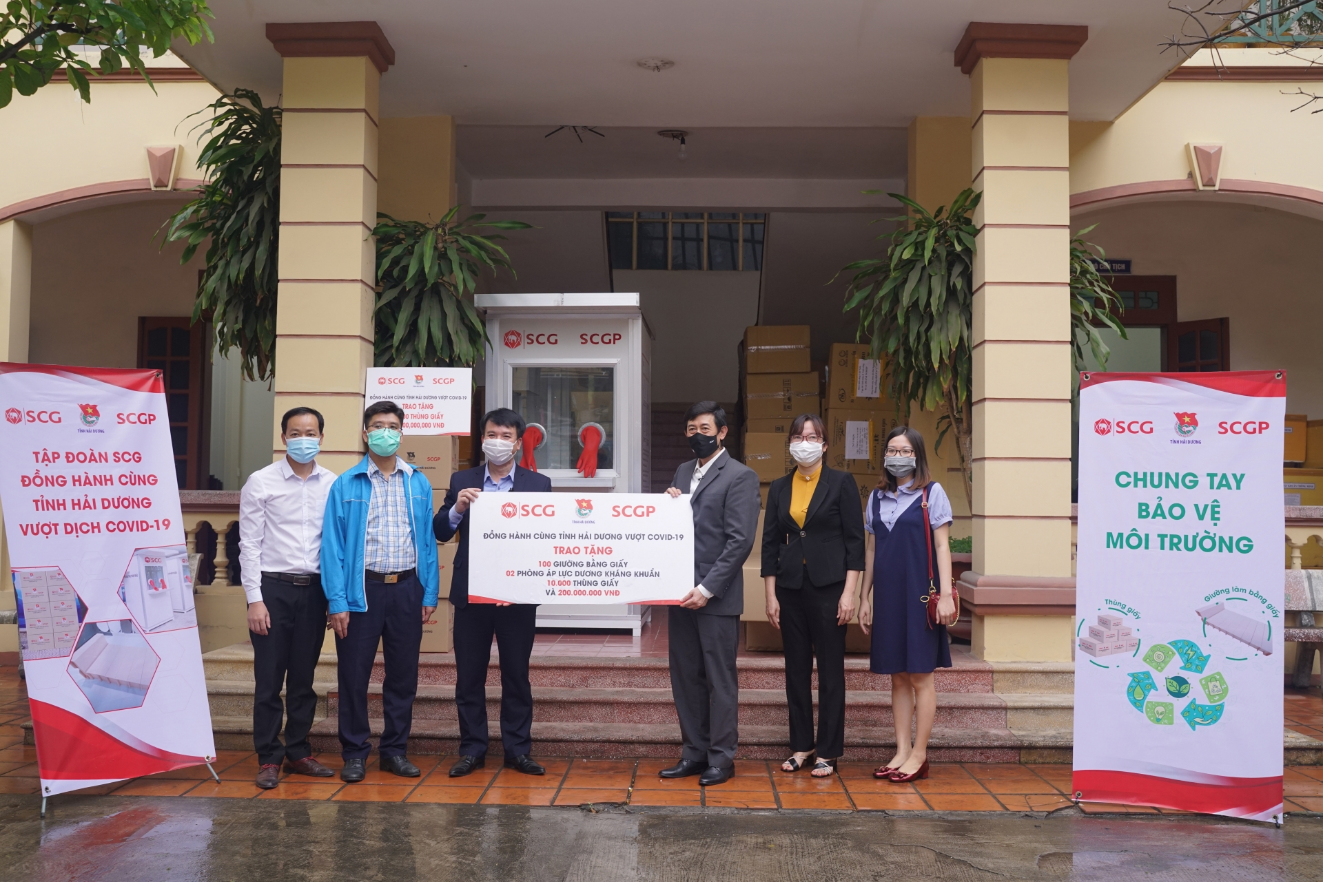 SCGP lends innovative solutions to fight COVID-19 in Vietnam