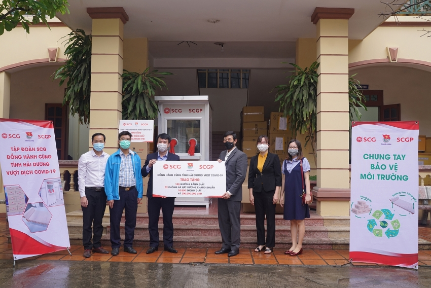 scgp lends innovative solutions to fight covid 19 in vietnam