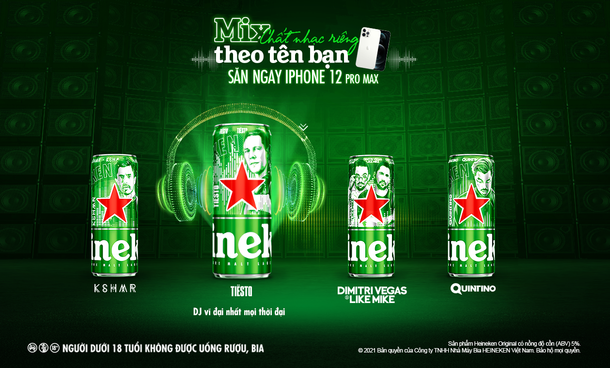 heineken and top djs present local consumers with exclusive music in a can experience