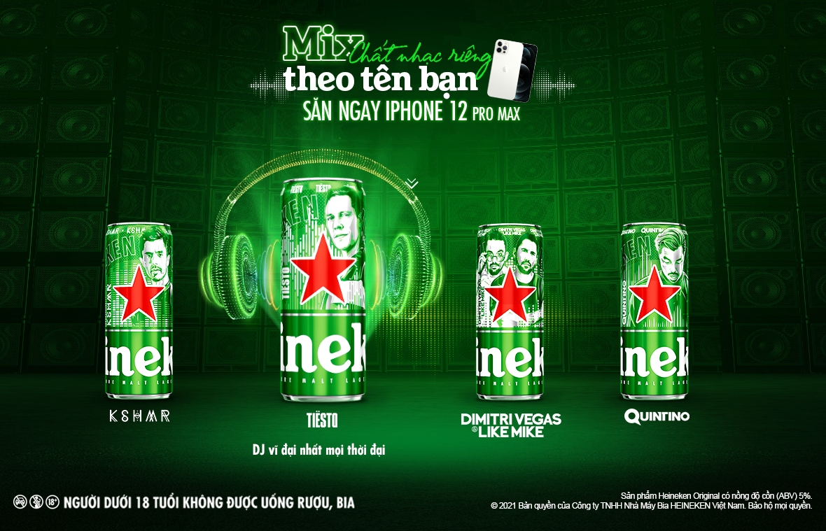 """HEINEKEN and Top DJs present local consumers with exclusive """"music in a can"""" experience"""