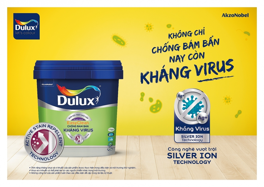 dulux from akzonobel launches new anti virus and bacteria paint for better protection