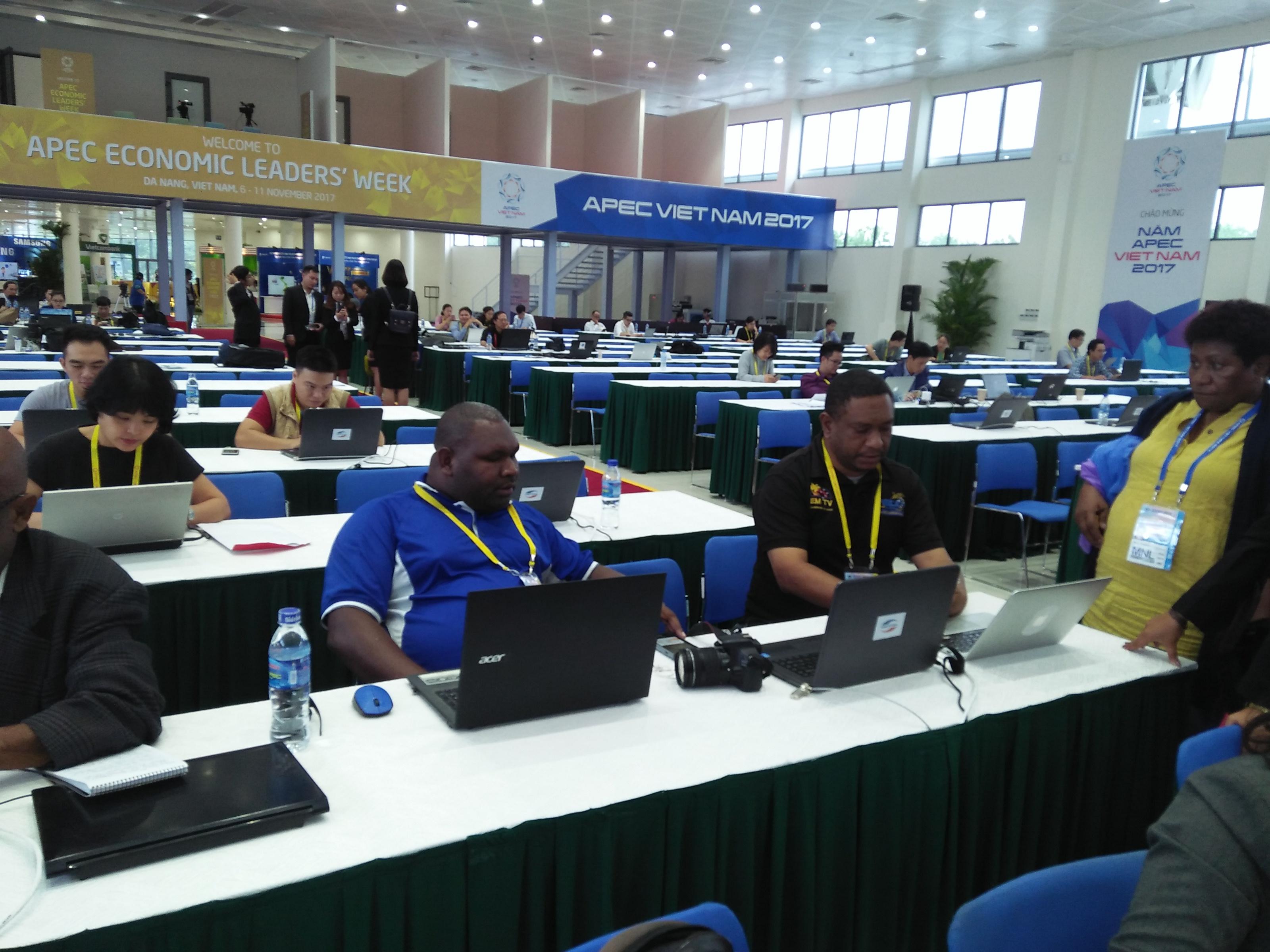 APEC media centre in full swing