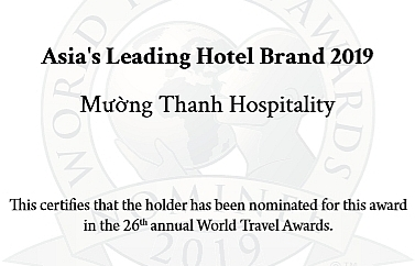 Muong Thanh nominated as Asia's Leading Hotel Brand 2019