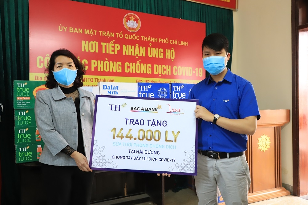 TH Group presents milk and drinks in Hai Duong and Quang Ninh
