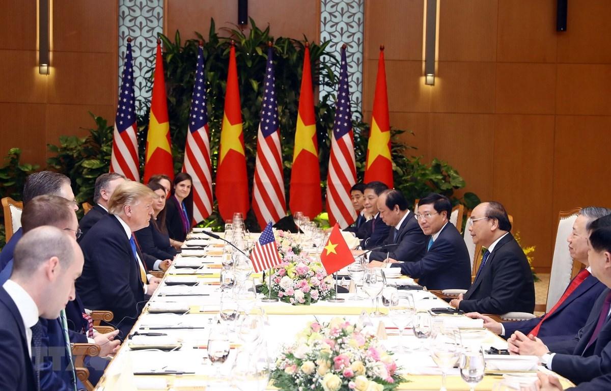 Vietnam's top leaders met with US President Donald Trump