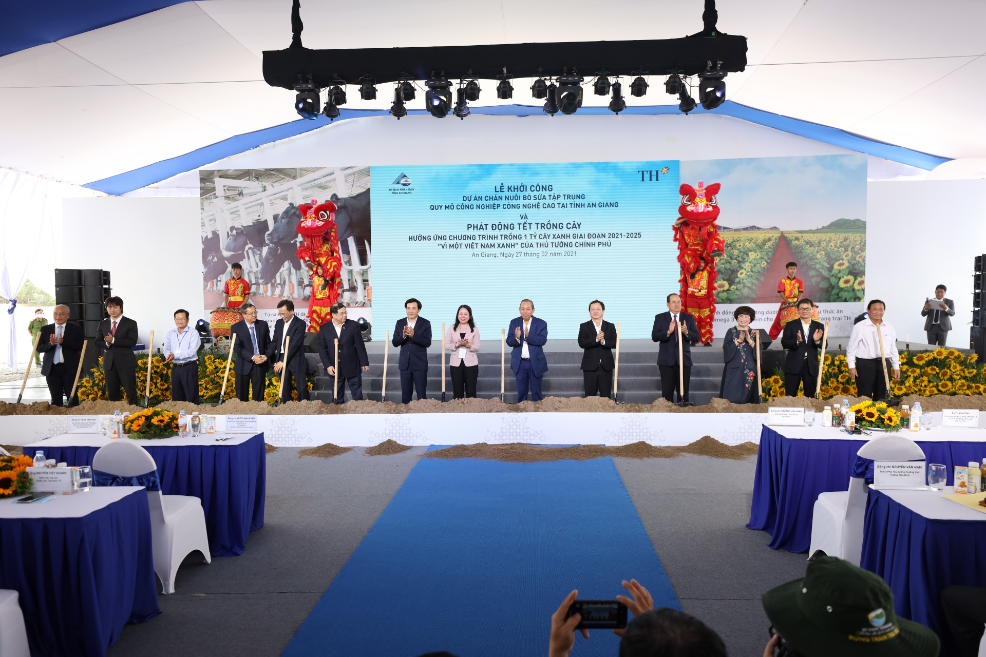 TH Group develops new milk project in An Giang