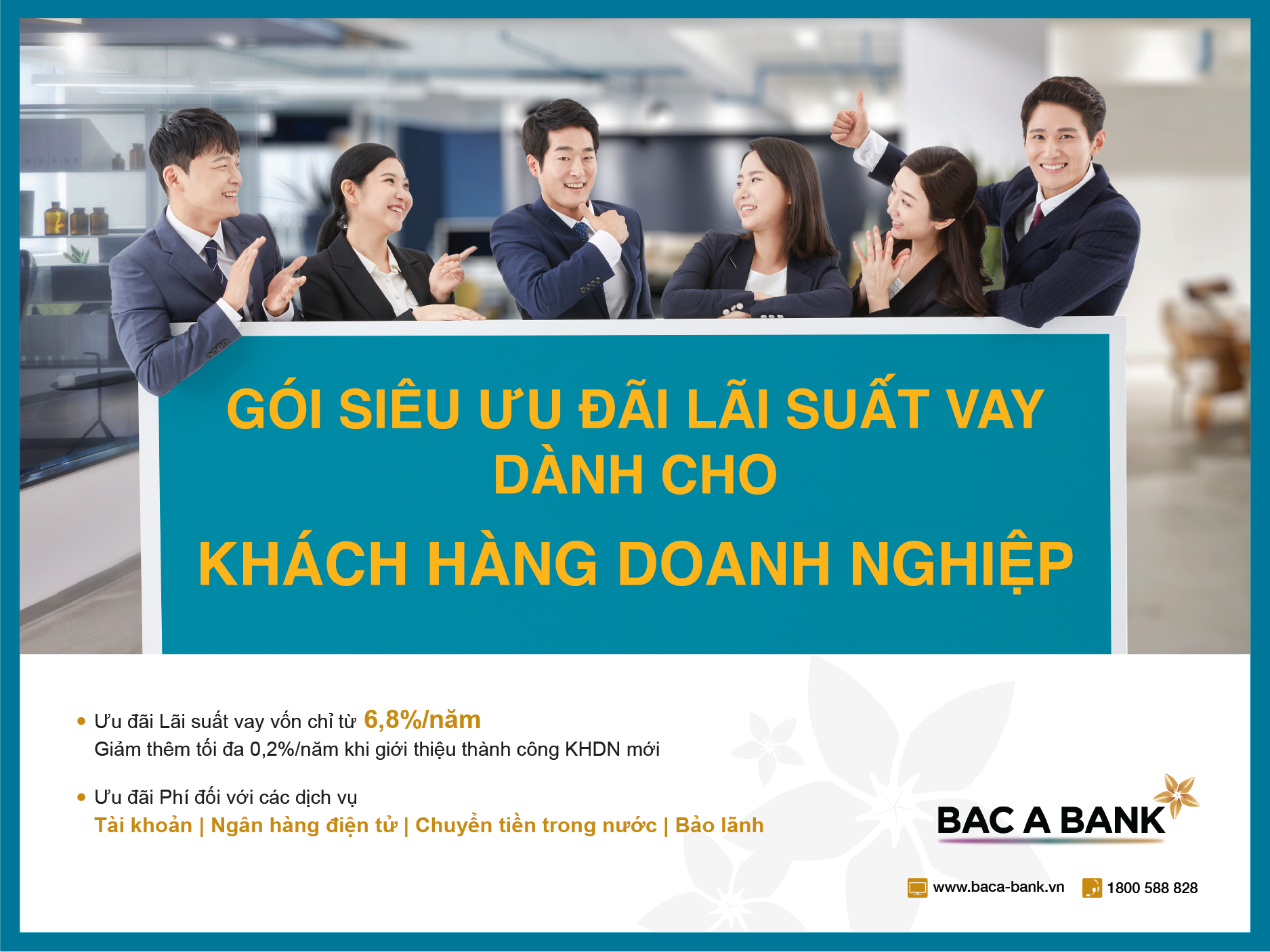 Enterprises to enjoy preferential rates with loans from BAC A BANK