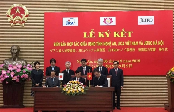 nghe an jica and jetro forge comprehensive co operation