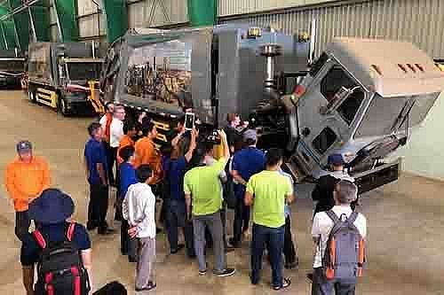 vws provides training to vietnamese drivers to operate new garage truck models