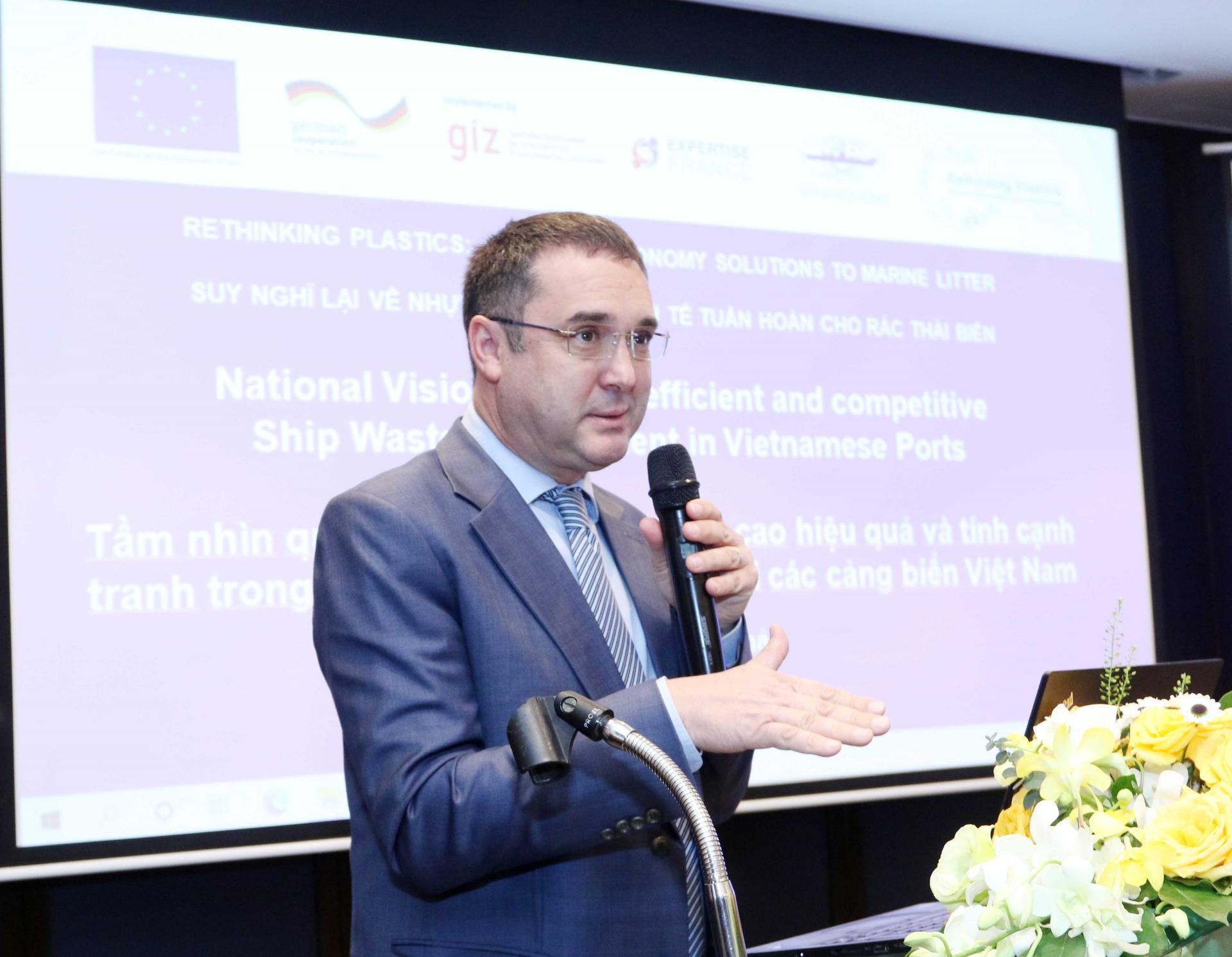 vinamarine improves ship waste handling services at saigon new port cat lai terminal