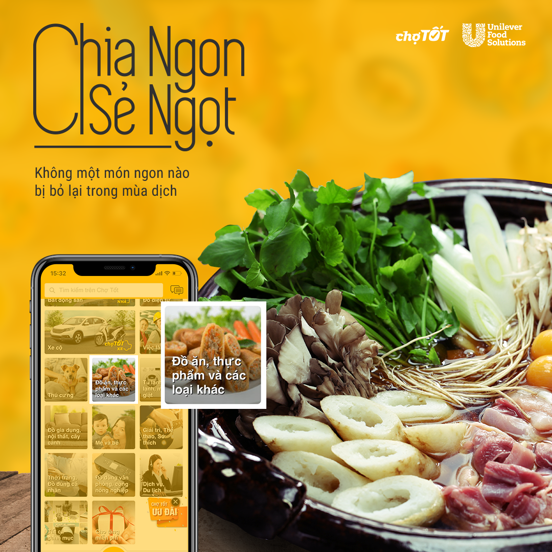 Cho Tot teams up with Unilever Food Solutions to aid restaurants during Covid-19