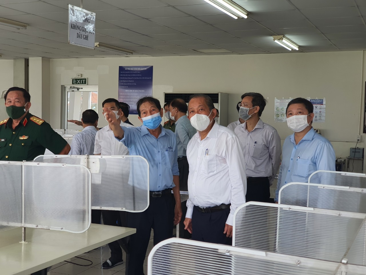 Strictly prevent pandemic at Tan Thuan Export Processing Zone