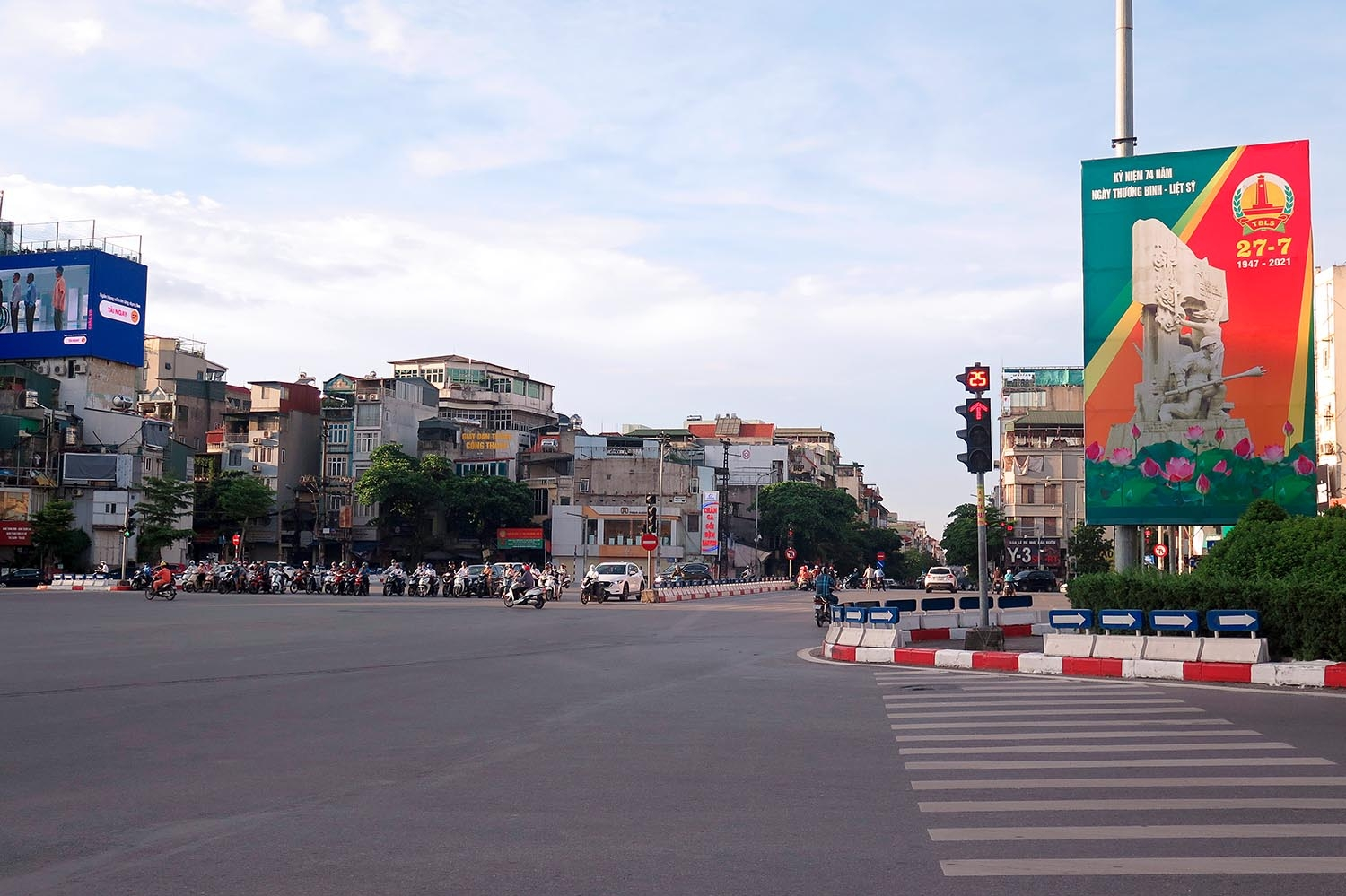 Social distancing empties out streets of Hanoi