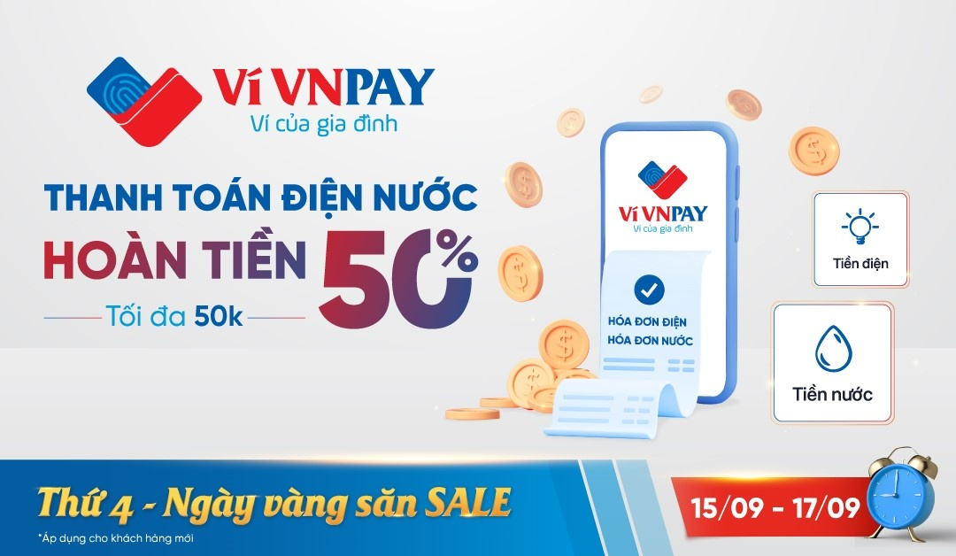 VNPAY e-wallet reduces burdens during pandemic with stellar refunds on utilities bills