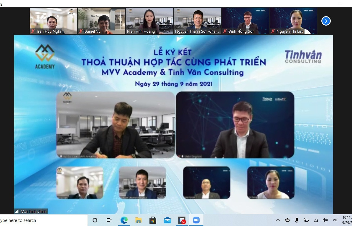 MVV Academy forms partnership with Tinh Van Consulting in human resources management