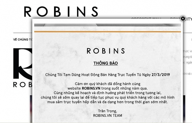 Robins falls in face of e-commerce competition