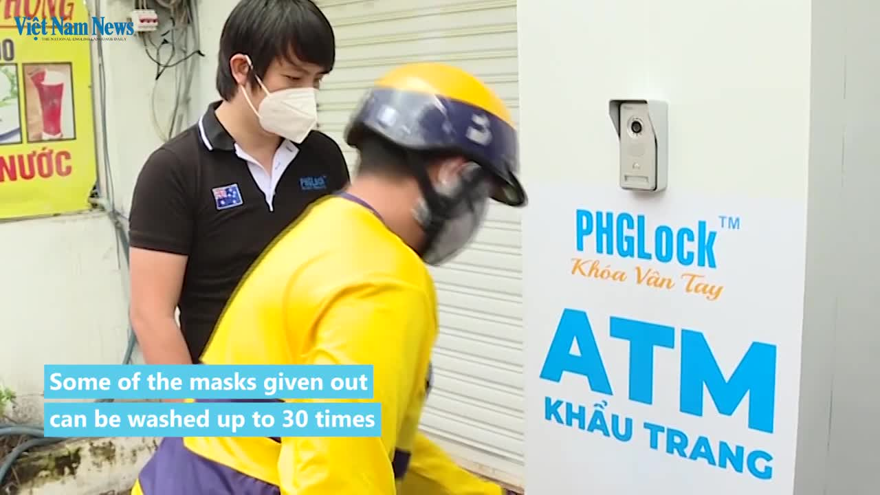 'Mask ATM' gives away free face masks in HCM City